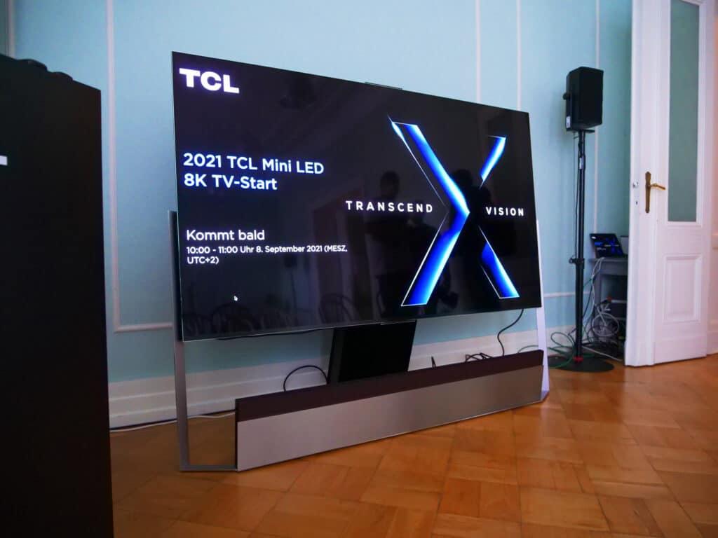 Kurz vor der Live-Pressekonferenz: Der X925 Pro 8K Mini LED QLED TV mit 85 Zoll