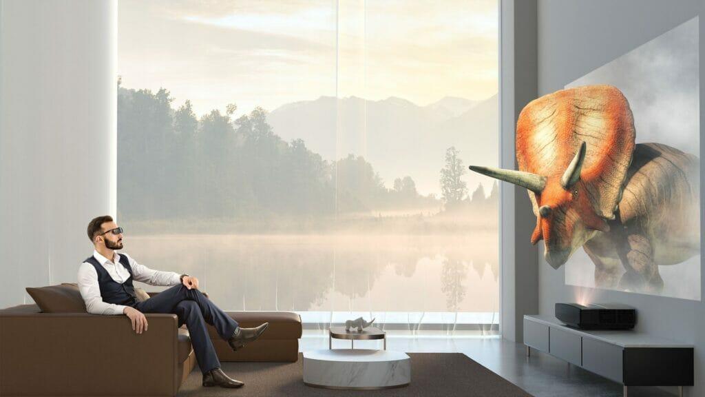 3D-Filme kann der XGIMI Aura mit einer aktiven Shutter-Brille darstellen