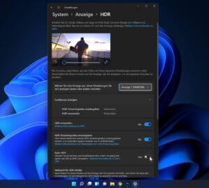 Unter Windows 11 stehen viel mehr Einstellungsmöglichkeiten für die HDR-Darstellung bereit