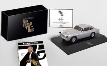 """4K Blu-ray Sonderedition von """"James Bond: Keine Zeit zu Sterben"""" mit Aston Martin Modellauto"""