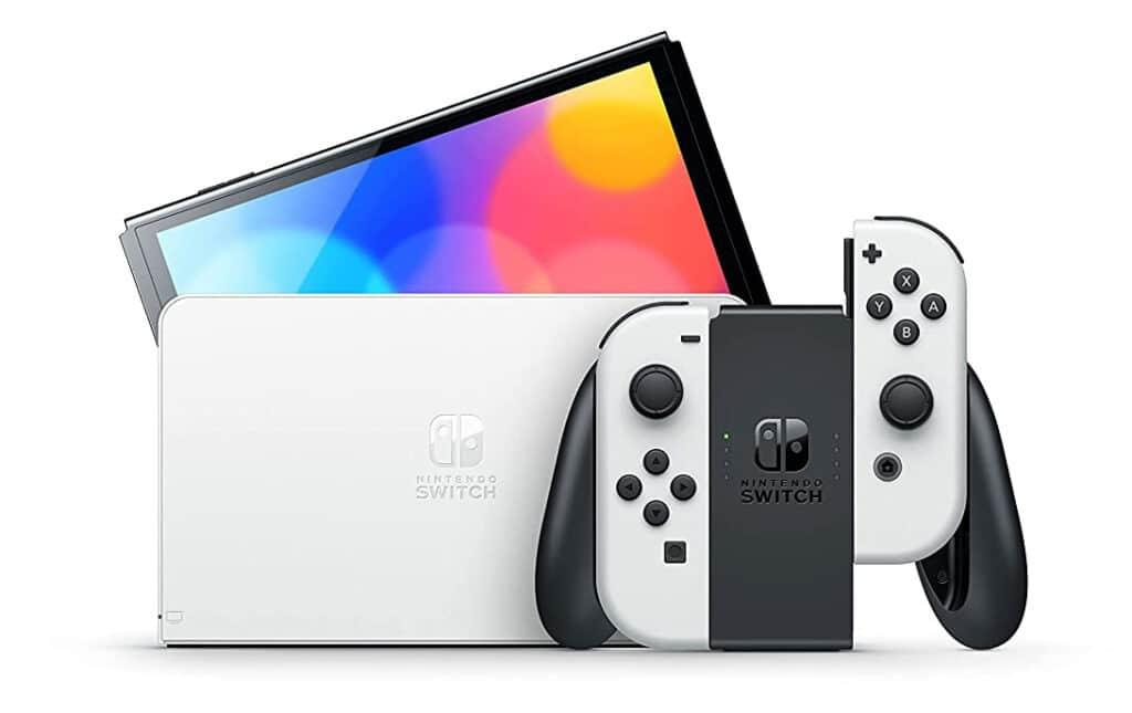 Die am 6. Oktober in den Handel kommende Nintendo Switch OLED hat ein größeres, helleres und etwas farbenprächtigeres Display