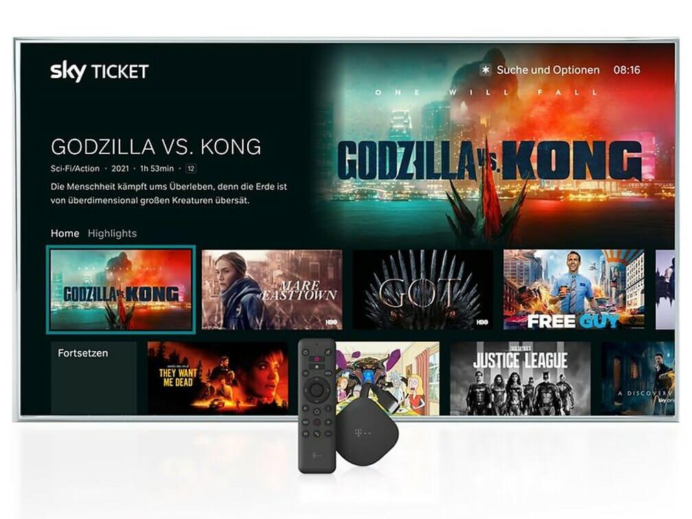 Die Sky Ticket App auf dem Magenta TV Stick