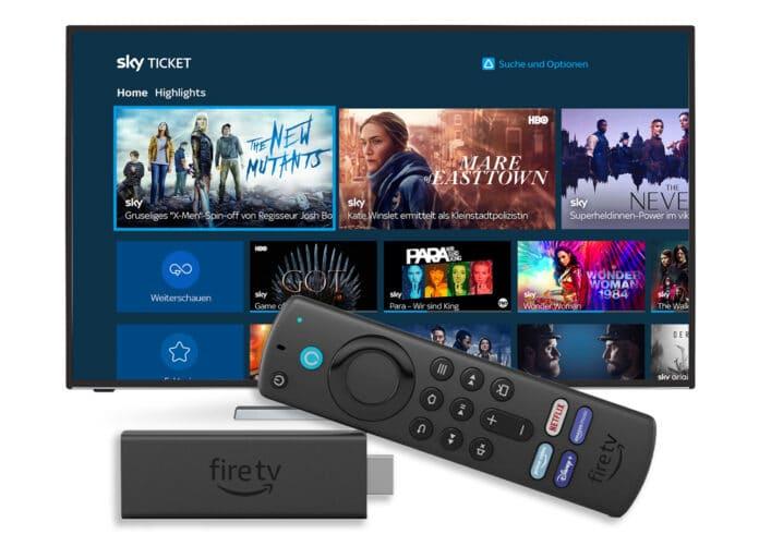 Die Sky Ticket App ist auch für den neuen Amazon Fire TV Stick 4K Max verfügbar
