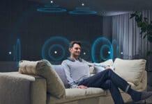 Der Sony SRS-NS7 Nackenbügel-Lautsprecher unterstützt Dolby Atmos* und 360 Spatial Sound*