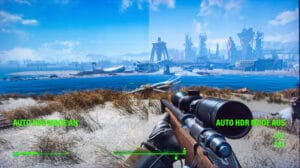 Vergleich Auto HDR Mode Windows 11 Fallout 4