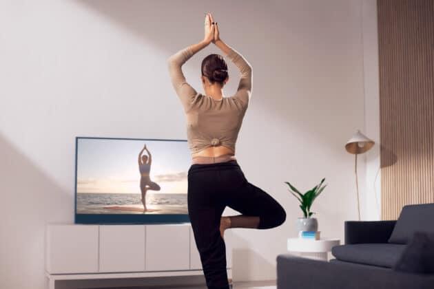 Anwendungen für Fitness wie Yoga soll mit einer optionalen 4K Kamera möglich sein